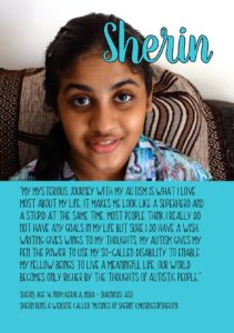 Sherin's page in the book by Autistic not weird -online community